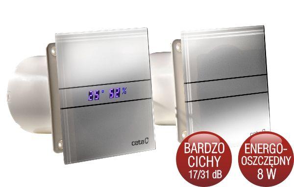 Wentylator łazienkowy Osiowy Cata E 100 Szklany Panel