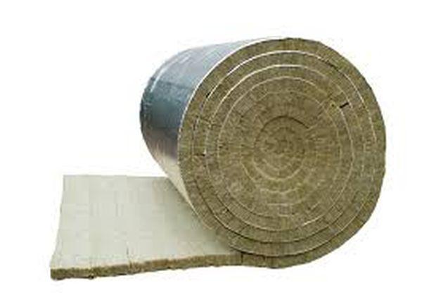 Mata Z Welny Mineralnej Pokryta Zbrojona Folia Aluminiowa Alu